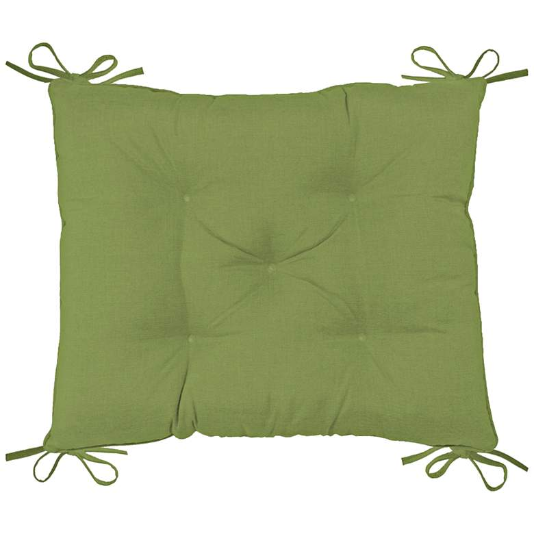 """Palmdale Canvas Ginkgo 24"""" Wide Tufted Chair Back Cushion"""