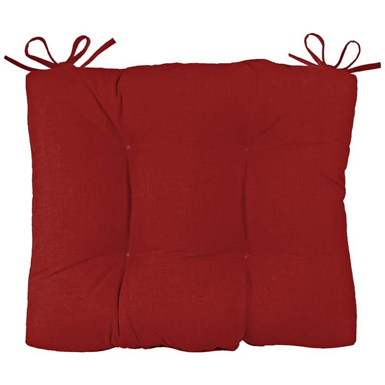 "Palmdale Canvas Jockey Red 24 1/2"" Wide Chair Back Cushion"