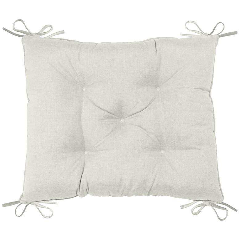"""Palmdale Canvas Natural 24"""" Wide Tufted Chair Back Cushion"""