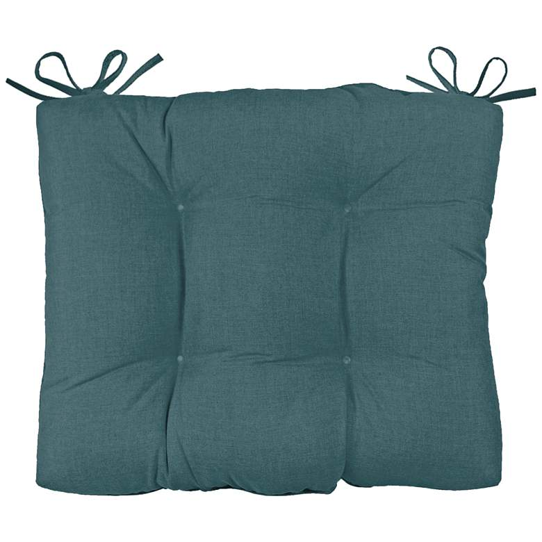 """Palmdale Cast Lagoon 24 1/2"""" Wide Tufted Chair Back Cushion"""