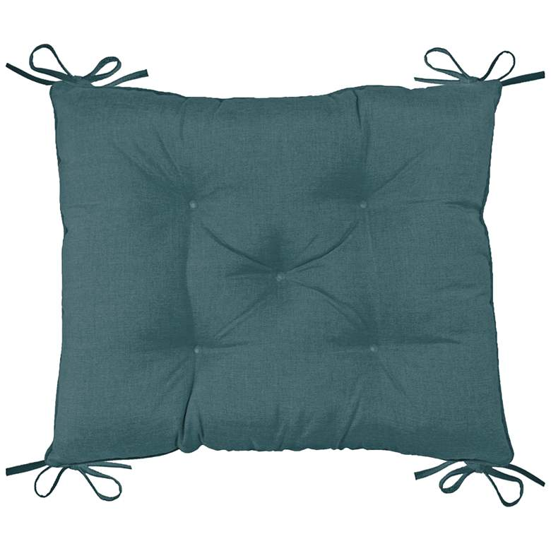 """Palmdale Cast Lagoon 24"""" Wide Tufted Chair Back Cushion"""