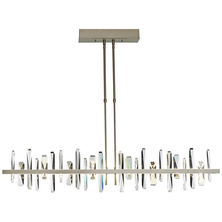 """Solitude Large 52""""W Gold LED Kitchen Island Light Pendant"""