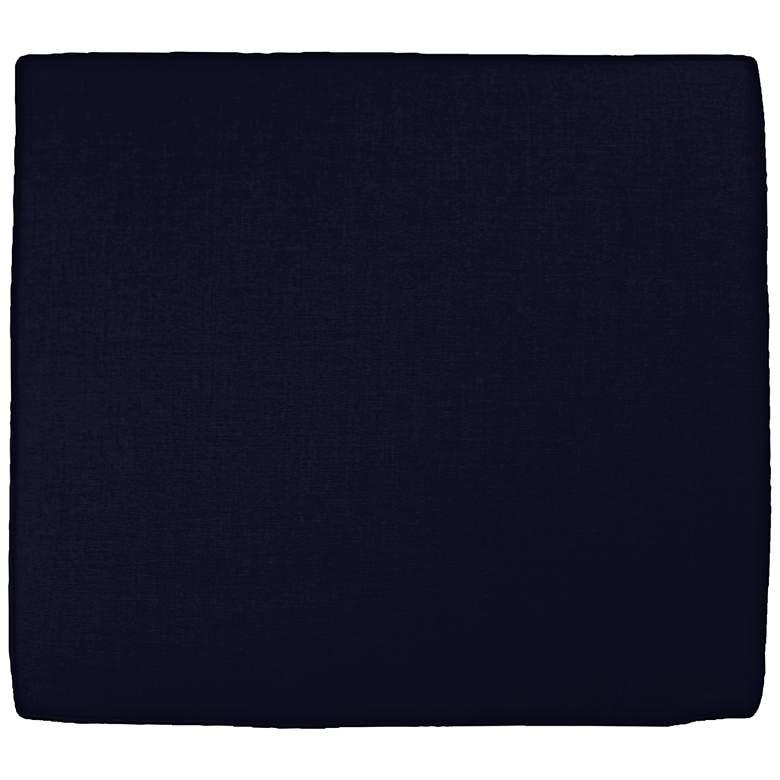 """Sunbrella Parma Canvas Navy 24 1/2"""" Wide Chair Cushion"""