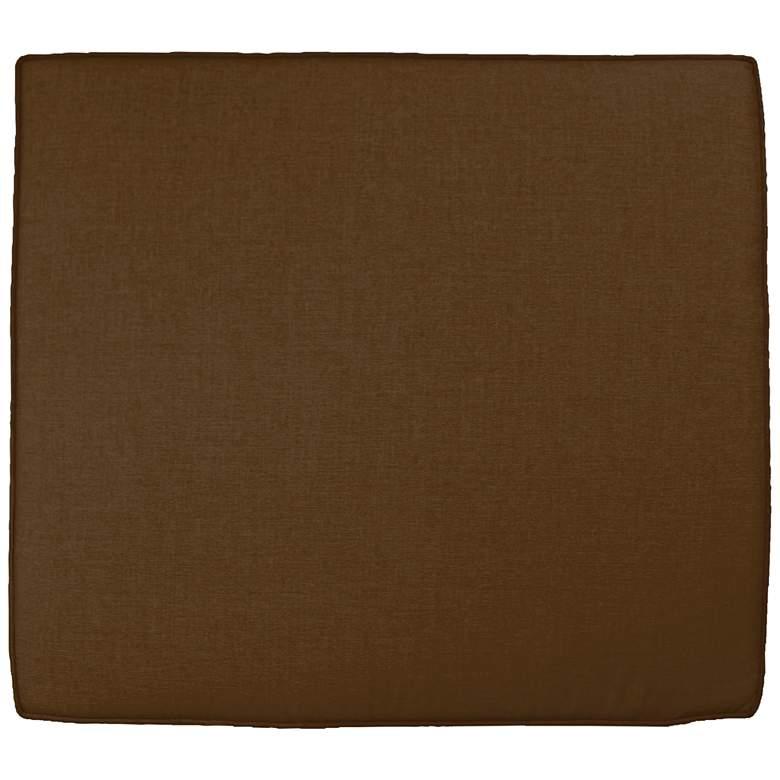 """Sunbrella Parma Canvas Teak 24 1/2"""" Wide Chair Cushion"""