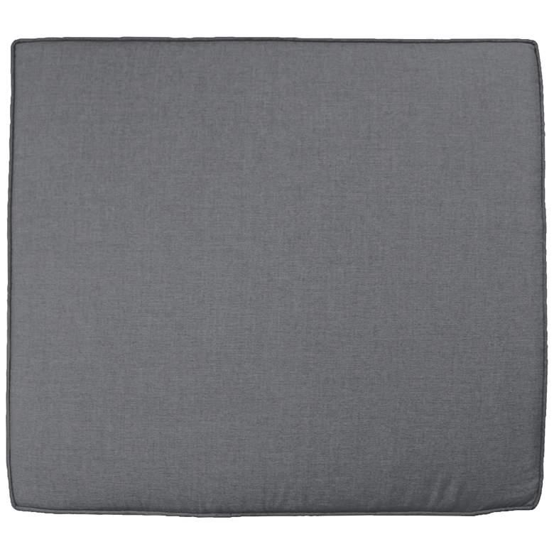 "Sunbrella Parma Cast Slate 24 1/2"" Wide Chair Cushion"