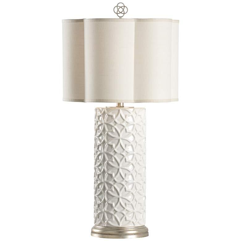 Wildwood Cornelia Snow White Glaze Porcelain Table Lamp