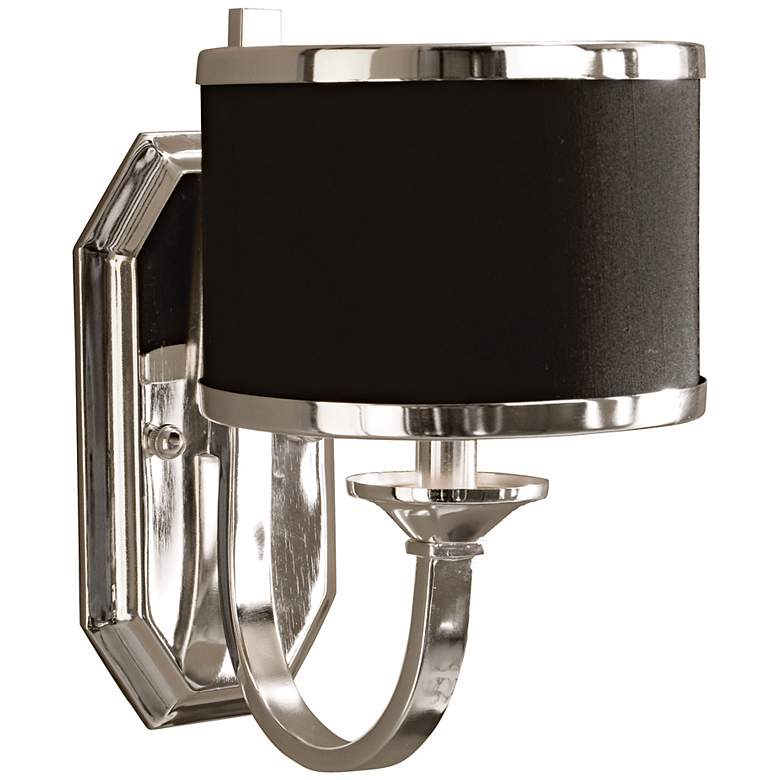 """Tuxedo Collection 11 1/2"""" High Silver Sconce by Uttermost"""