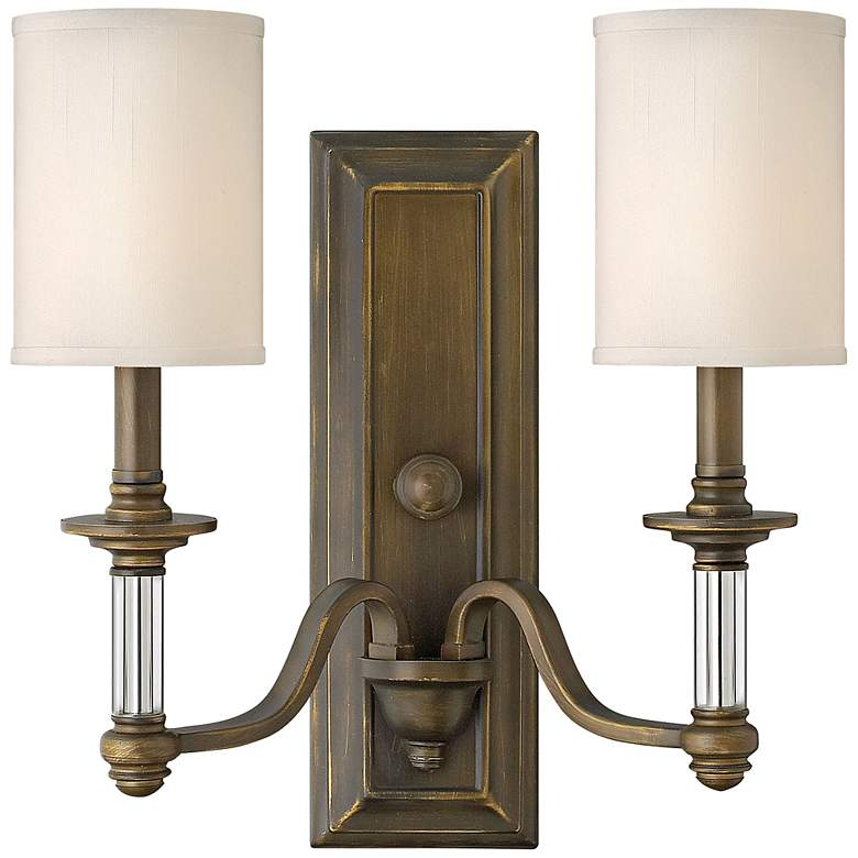 """Hinkley Sussex 15 3/4"""" High English Bronze Wall Sconce"""