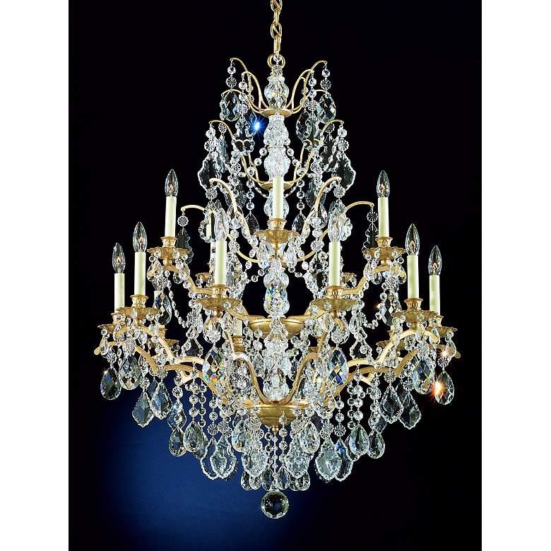 Schonbek Bordeaux 15-Light Large Crystal Chandelier
