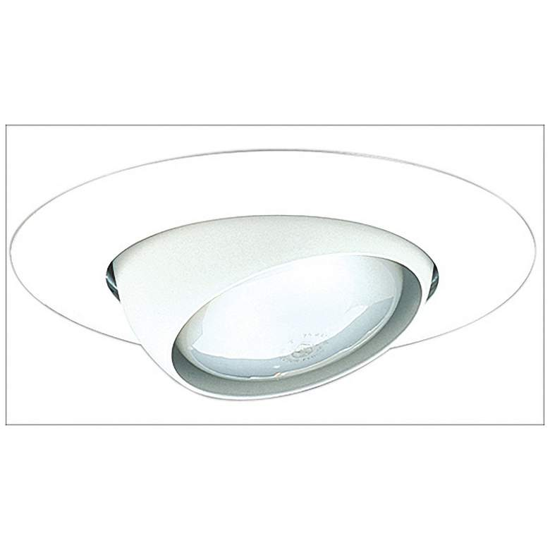"""Elco 5"""" White Eyeball Recessed Light Trim with Ring"""