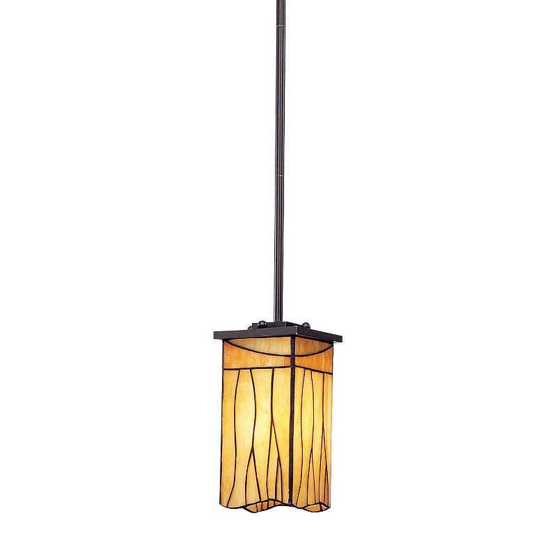 "Sedona Collection 4"" Wide Art Glass Mini Pendant"