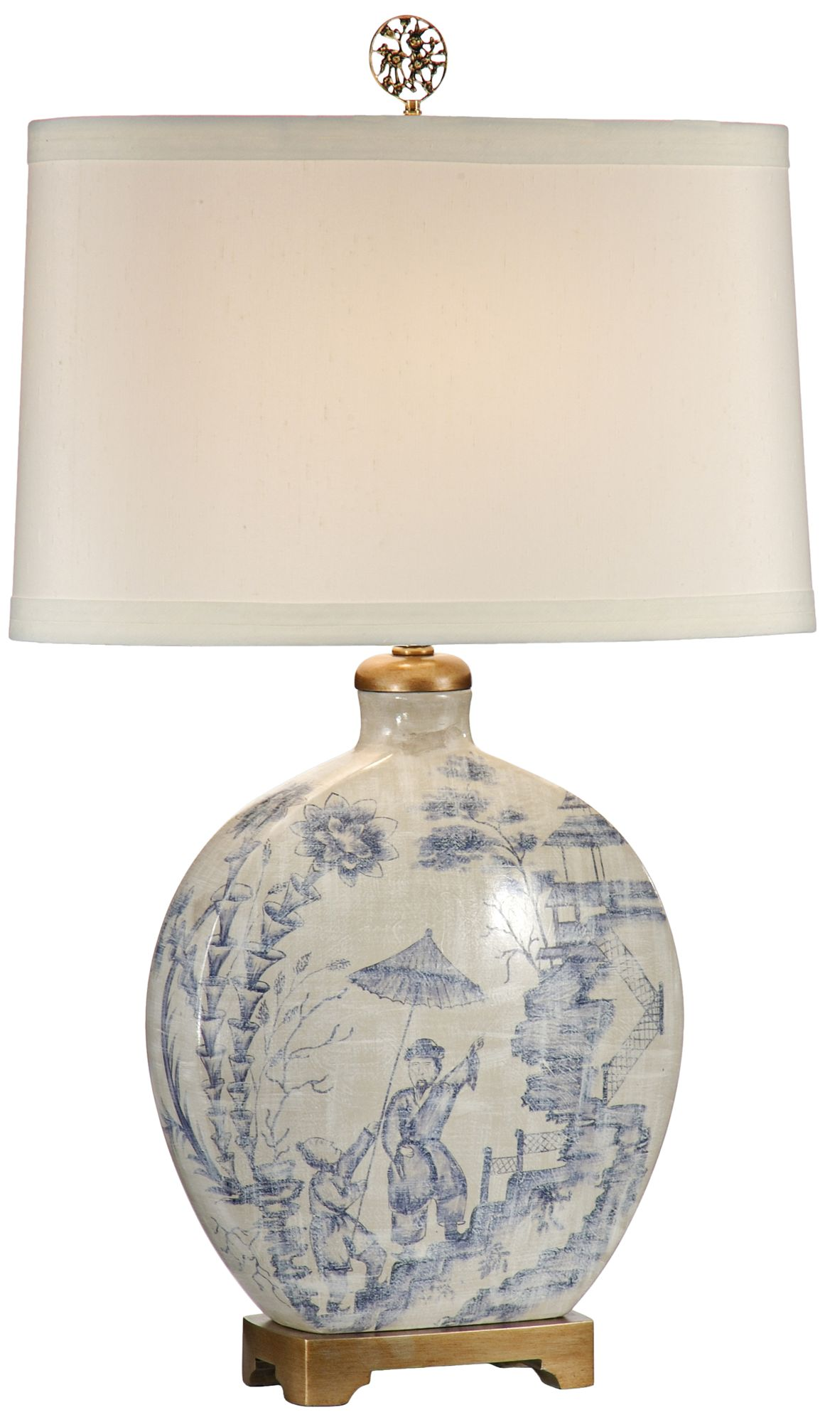 Wildwood Ancient Snuff Bottle Porcelain Table Lamp