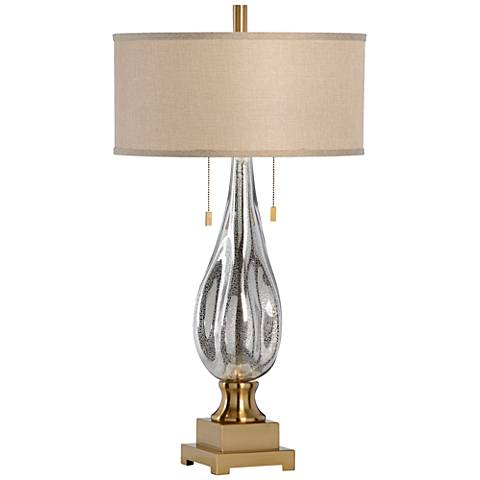 Wildwood Delano Speckled and Antique Brass Glass Table Lamp