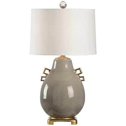 Wildwood Ming Slate Gray Crackle Porcelain Table Lamp