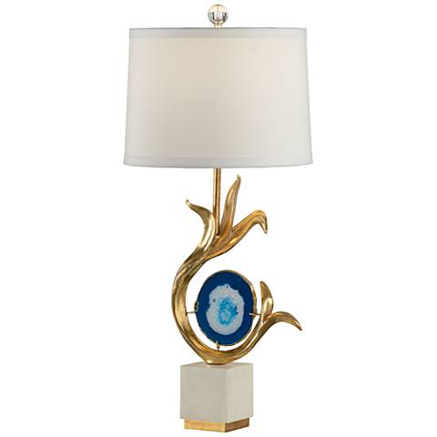 Wildwood Zulli Gold Leaf and Blue Dyed Table Lamp