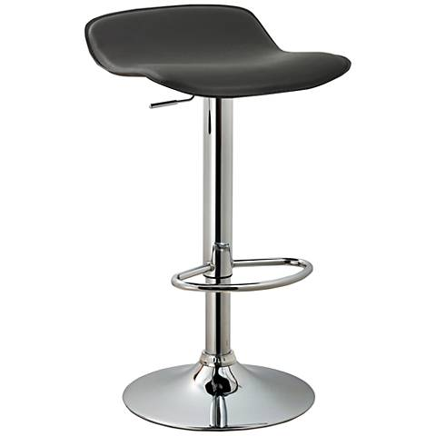 "Dorsey 31 1/2"" Black Faux Leather Swivel Backless Barstool"