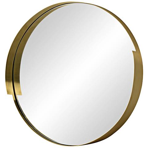 "Varaluz Casa Echo Gold 20"" Round Wall Mirror"