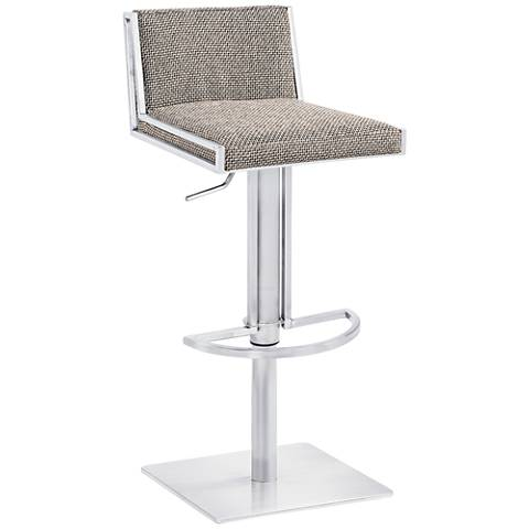"Exeter 31 3/4"" Fabric and Steel Adjustable Swivel Barstool"