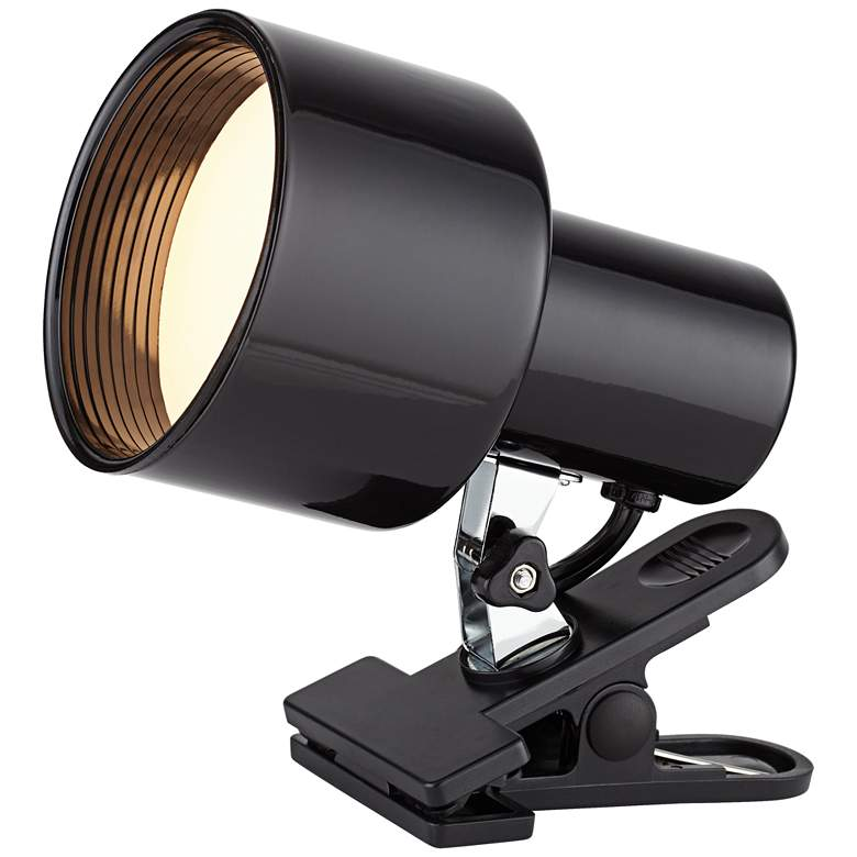 "Black Mini Accent 6"" High Clip Light with"