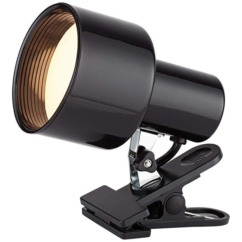 "Black Mini Accent 6"" High Clip Light with LED Bulb"
