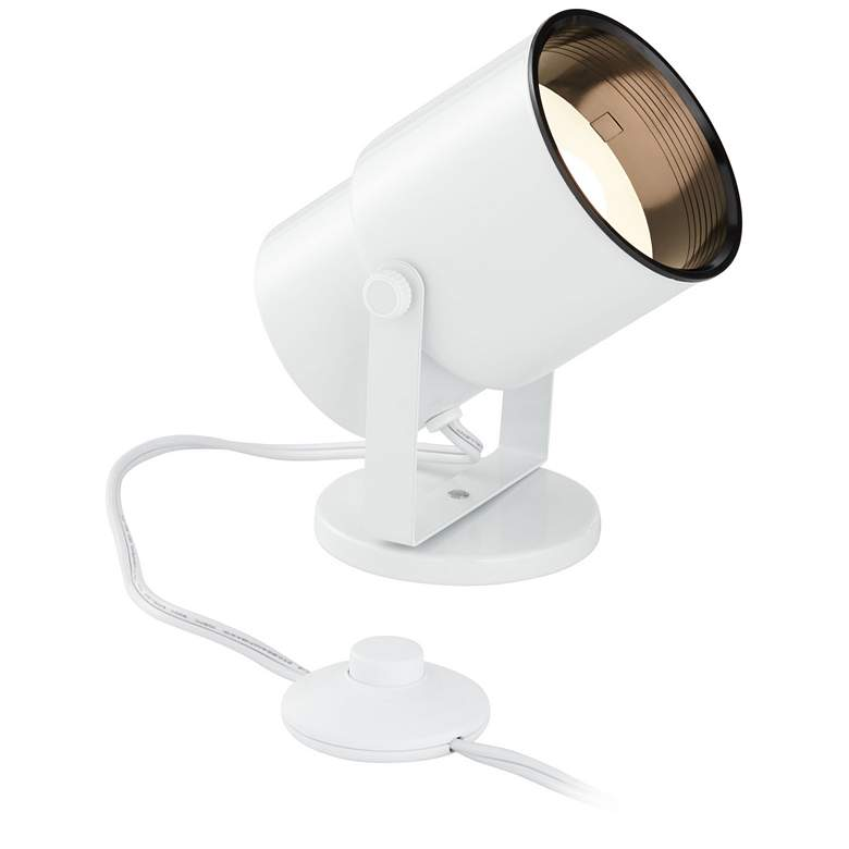 Cord-n-Plug White LED Accent Uplight with Foot Switch