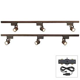 Pro Track Bronze Finish 300w Lv Plug In Linear Kit