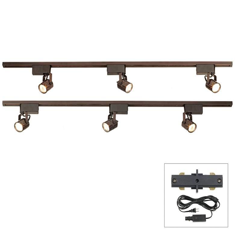 Pro Track® Bronze Finish 300W LV Plug-In Linear Track Kit