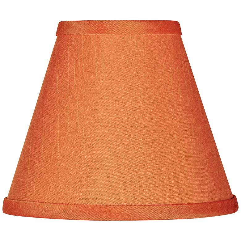 Orange Faux Silk Set of Four Shades 3x6x4