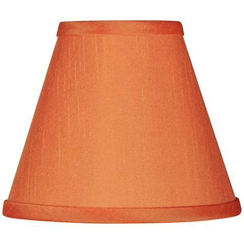 Orange Faux Silk Set of Four Shades 3x6x4 3/4 (Clip-On)