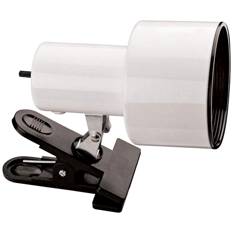 """White Mini Accent 6"""" HIgh Clip Light with CFL Bulb"""
