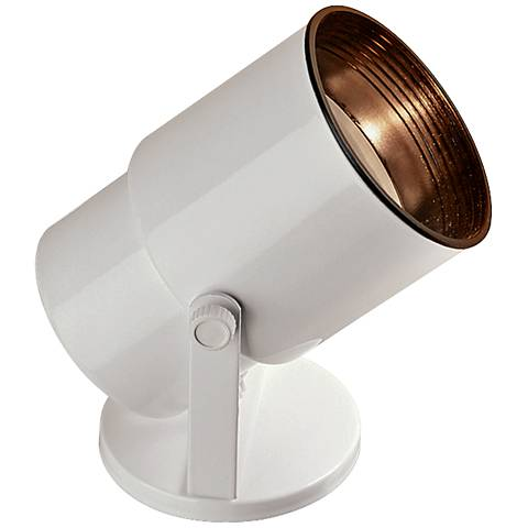 """Gloss White 8"""" High Adjustable Uplight with CFL Bulb"""