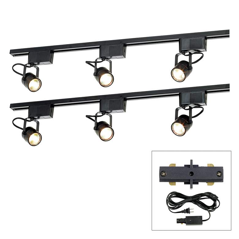 Pro Track® Black 300W 6-Light LV Plug-In Linear