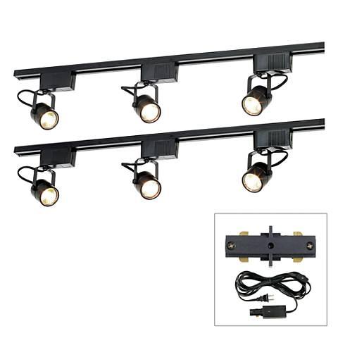 Pro Track® Black 300W 6-Light LV Plug-In Linear Track Kit