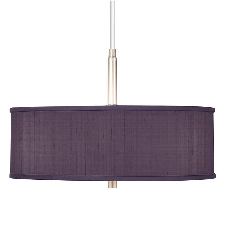 "Eggplant Purple 16"" Wide Pendant Chandelier"