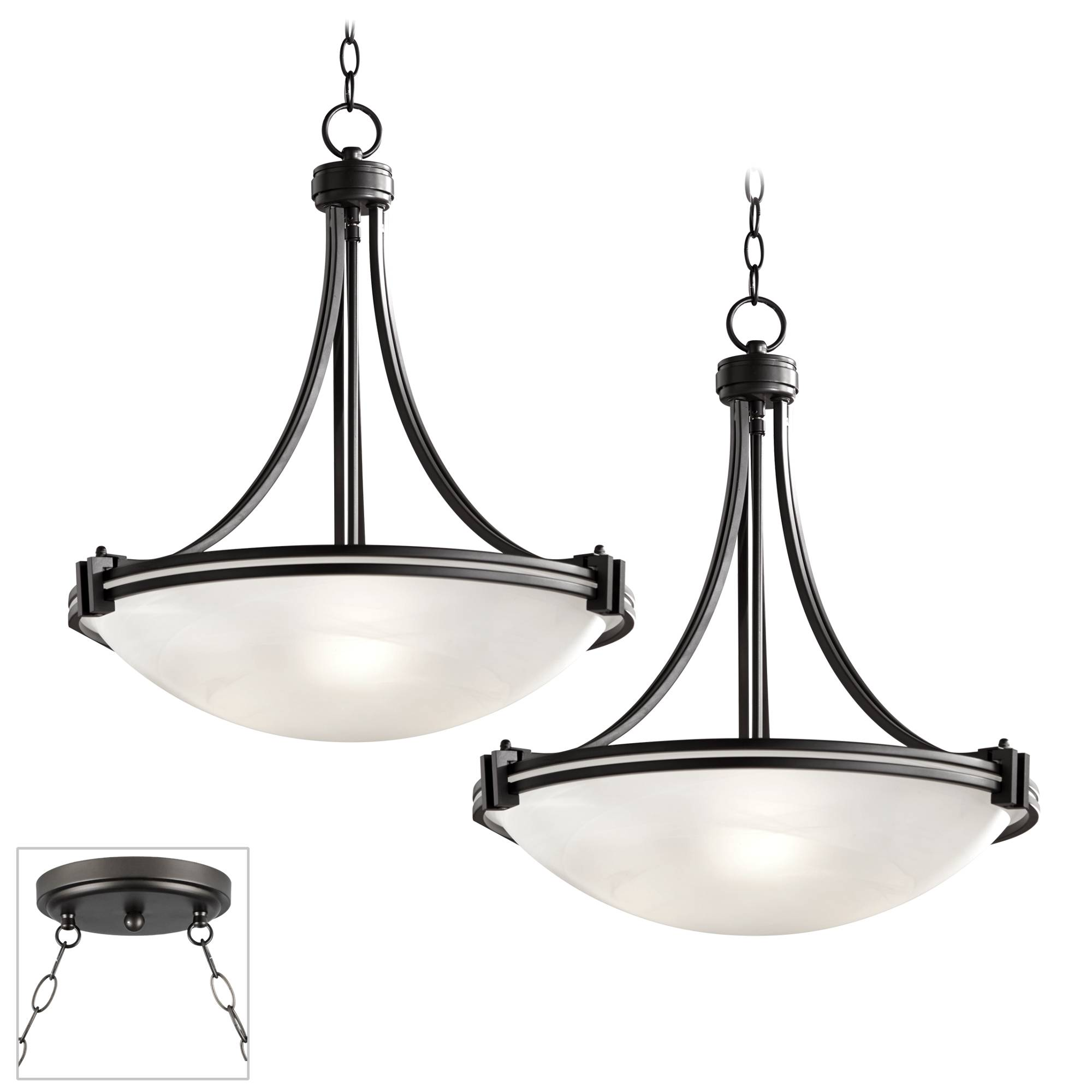 Details About Possini Euro Design Deco Bronze Double Multi Light Pendant