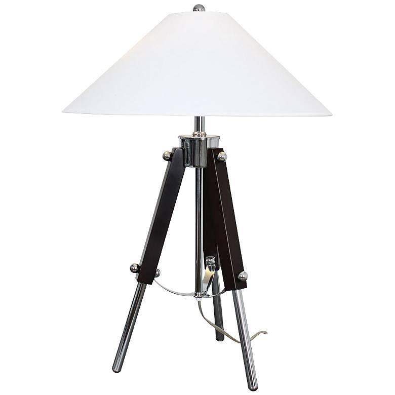 Van Teal Actor Dark Espresso and Chrome Table Lamp