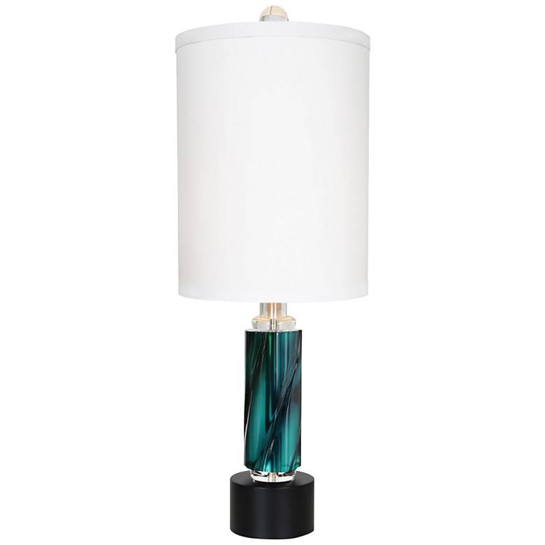 Van Teal Rhapsody Teal Blush Green Acrylic Table Lamp