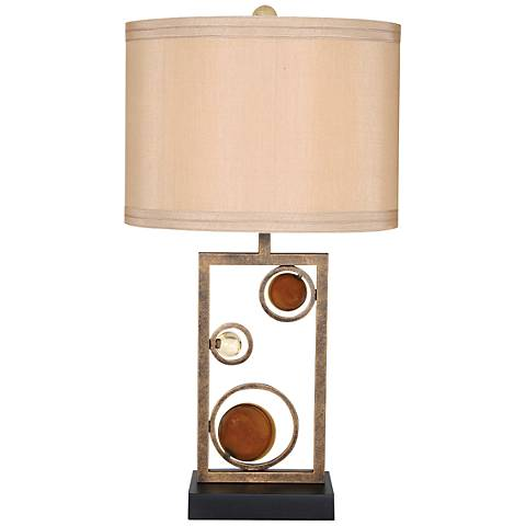 Van Teal Wheels of Friendship Golden Ochre Metal Table Lamp