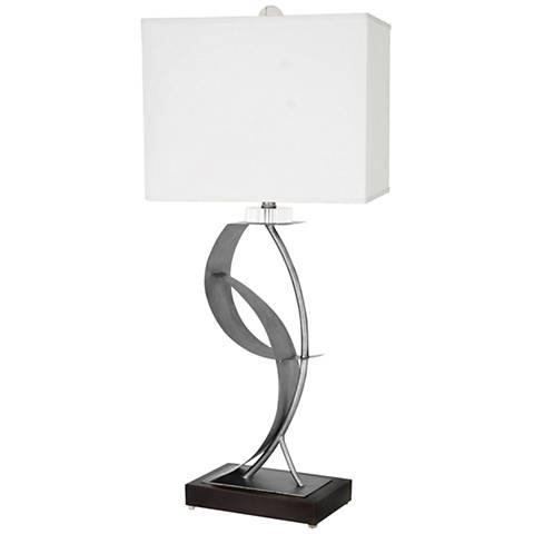 Van Teal Lady Clara Weathered Steel Metal Table Lamp