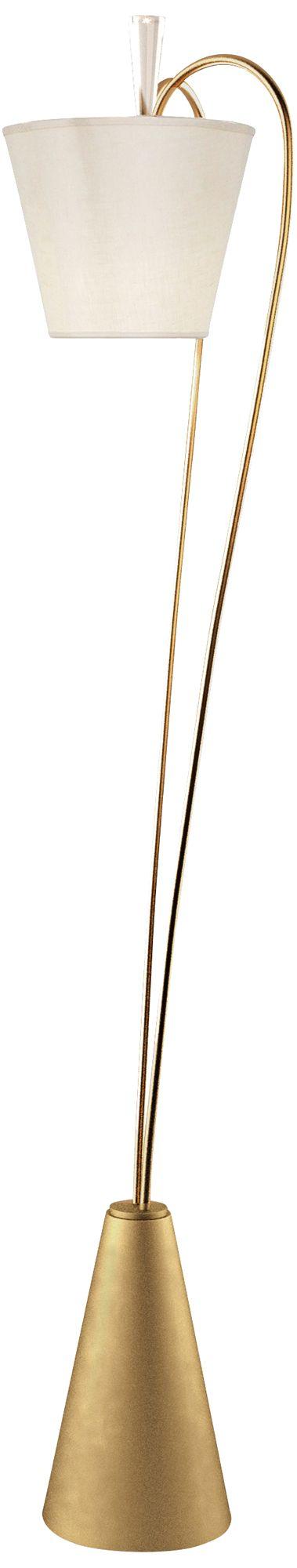 Van Teal Up Lift Sienna Gold LED Floor Lamp