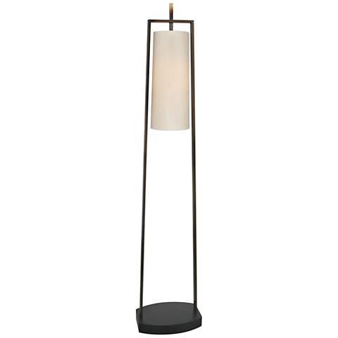 Van Teal Kim Caramel and Matte Black Floor Lamp