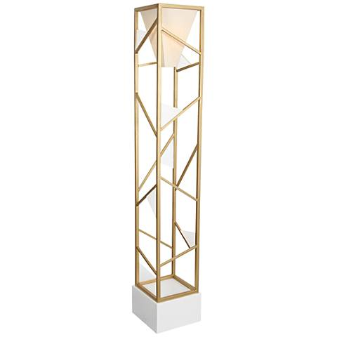Van Teal Tower Center Gold Floor Lamp