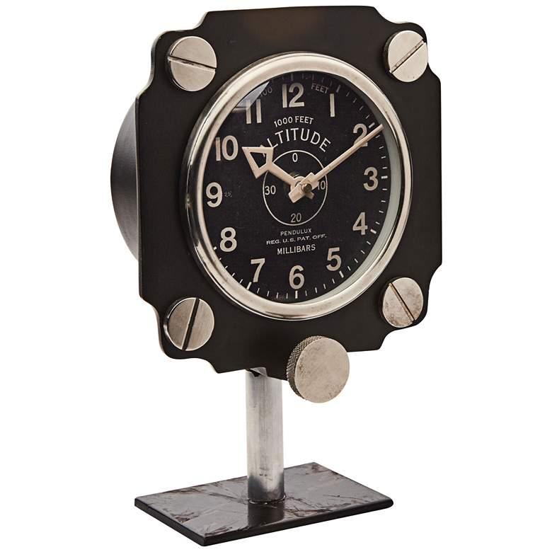 "Aircraft Altimeter Dial 10"" High Table Clock"