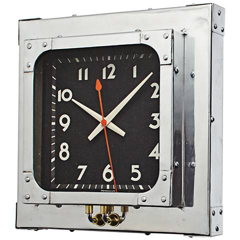 "Detroit Aluminum 16"" Square Wall Clock"