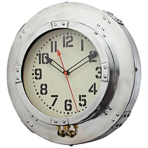 "Baltimore Aluminum 18"" Round Wall Clock"
