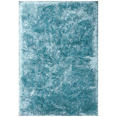Dallas DAL Gray and Turquoise Shag Area Rug