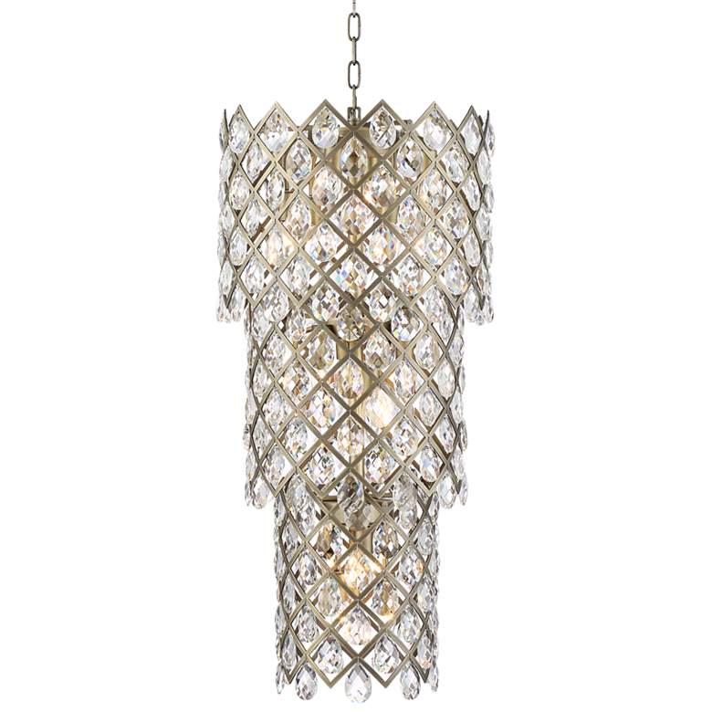 "Sumner 16 1/2""W Antique Brass and Crystal 20-Light Pendant"