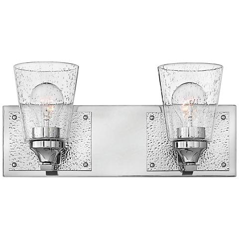 "Hinkley Jackson 7 1/4""H Polished Nickel 2-Light Wall Sconce"