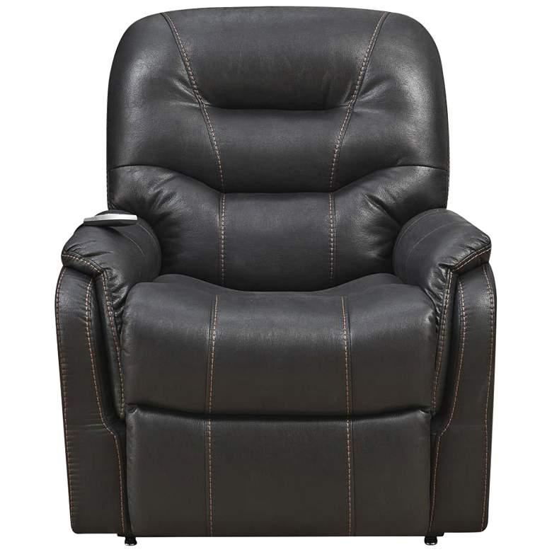 Tyson Black Fabric Heat and Massaging Lift Chair