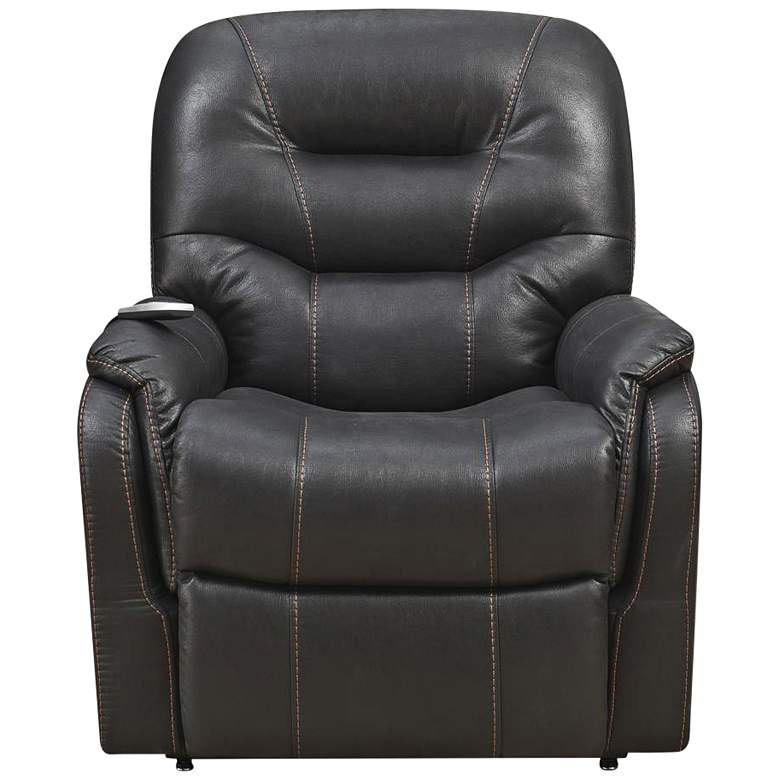 Tyson Black Fabric Heat and Massaging Lift Chair